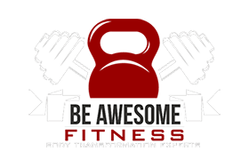 Be Awesome Fitness Logo mobile Logo White